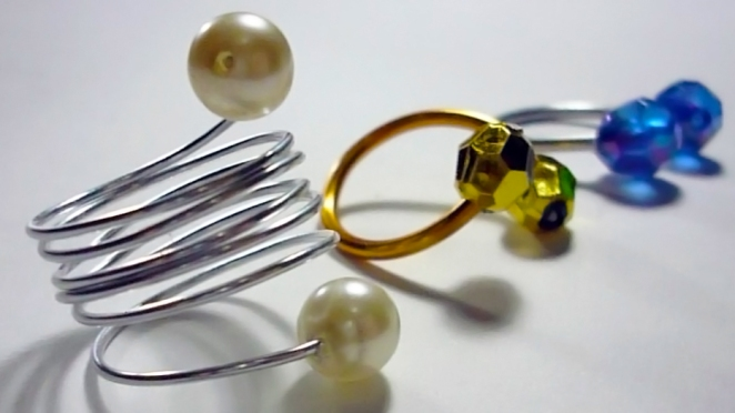 wire rings easy diy fast style fashion accesories jewelry cheap blog blogger video youtube