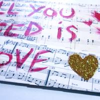 DIY - All You Need Is Love - Grunge Wall Art
