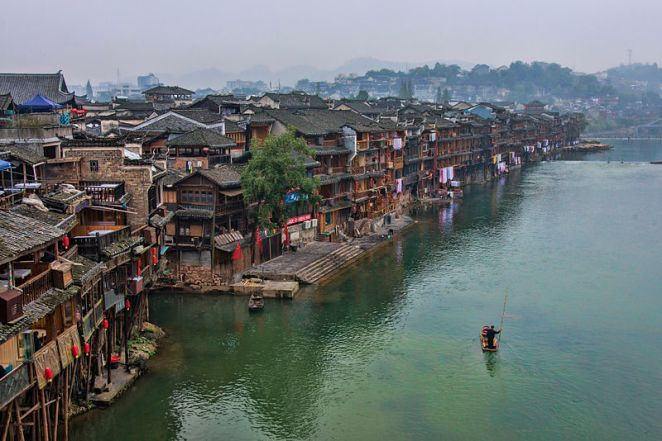 fenghuang couty, china, hunan, most beautiful town in china