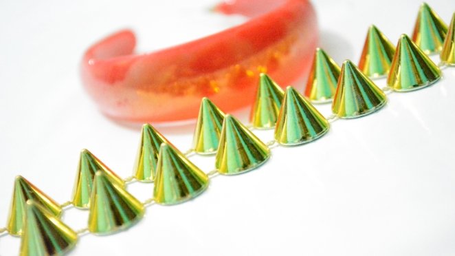 DIY SPIKED EARRINGS