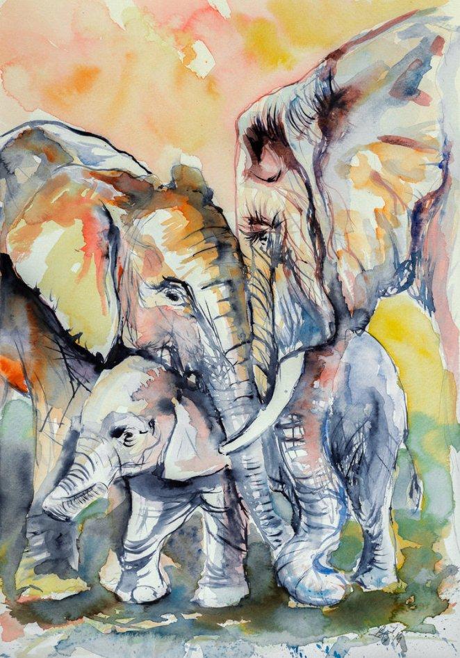 elephant_family_by_kovacsannabrigitta-d7trv3f