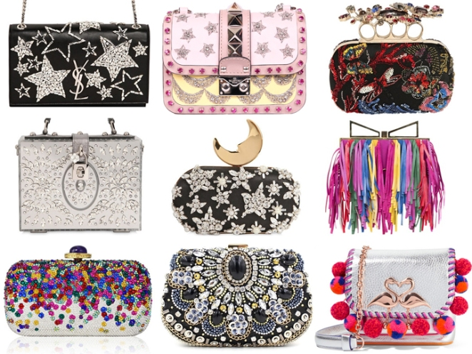 embellished bags, valentino, dolce gabanna, rhinestones, fringe, bag, clutch, purses, saint laurent, inspiration, favorites