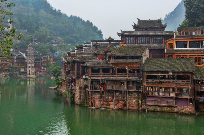fenghuang county, china, hunan, most beautiful town in china