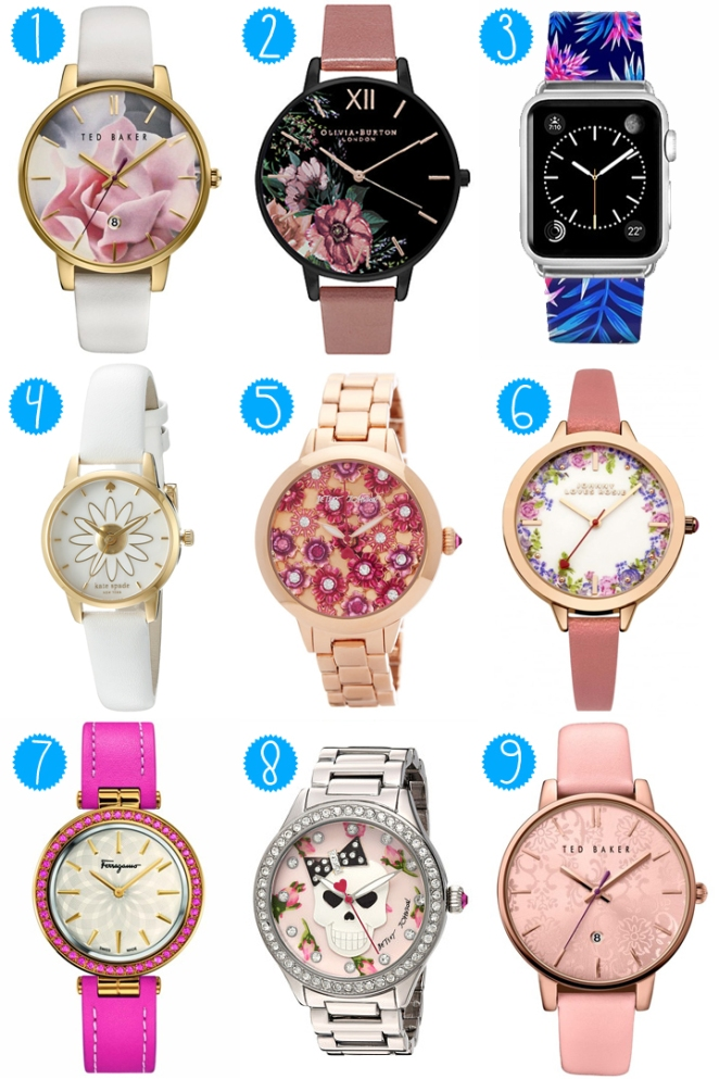 watches, floral, kate spade, inspiration, flowers, favorite, fashion, blogger
