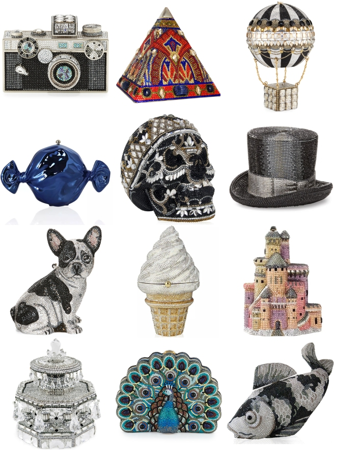 embellised clutches, bag, inspired, favorite, blogger, judith leiber, skull clutch, original clutch, art